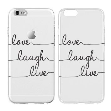 Live laugh love iphone case, Inspirational love quotes, Transparent Skin, Scratch Proof Protective Slim Case for iPhone 6 6s