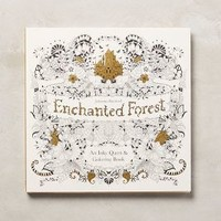 Enchanted Forest Coloring Book by Anthropologie in Cream Size: One Size House & Home