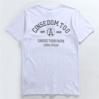 Summer Casual Short Sleeve Round-neck Couple T-shirts [10713509699]
