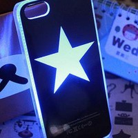Unique Six Color Flashing Light Hard Case for iPhone 4/4S