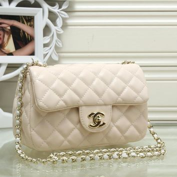 Chanel Women Fashion Leather Shoulder Bag Crossbody