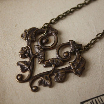 Victorian Morning Glory Vine Necklace