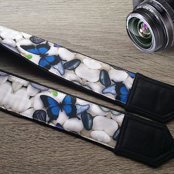 Butterflies  Camera Strap.   Camera Neck Strap,  Canon,Nikon Strap.  Accessories