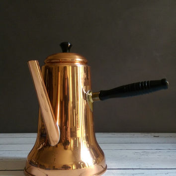 Copper Turkish Coffee Pot/ Copper Tea Pot/ Coppercraft Guild Coffee Pot/ Copper Hot Chocolate Pot/ Vintage Turkish Coffee Pot