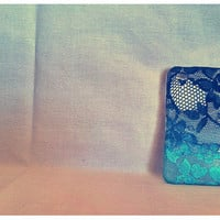 Ombre Iphone Lace Case onyx and Ocean
