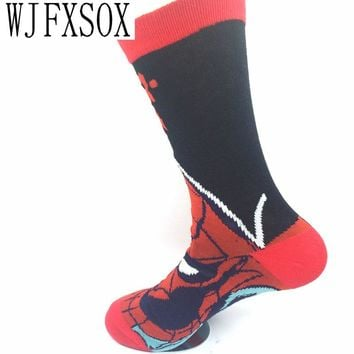 WJFXSOX 1 pairs New Superman Hulk Captain America Cotton Jacquard harajuku funny socks summer style meia masculina mens socks