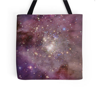 Purple Galaxy Astronomy Tote Bag