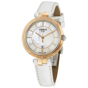Tissot Flamingo Mother of Pearl Dial Ladies Watch T094.210.26.111.01
