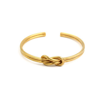 """ANIL ARJANDAS"" Fashion Unisex Retro Double lines Knotted Wristband Couple Open Bracelet"