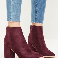 Missguided - Purple Pointed Toe Ankle Boots