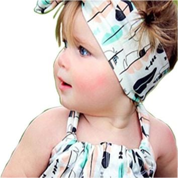 New arrival baby band scarf headband girl children rabbit ear headband cat Cheer Bows Turban Head Wrap Headband