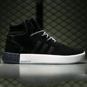 Adidas tubular invader strap Fashion Men Running Sport Casual High Top Shoes Sneakers Green G-A0-HXYDXPF-1