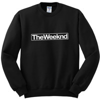 "The Weeknd ""The Weeknd"" Box Logo Crewneck Sweatshirt"