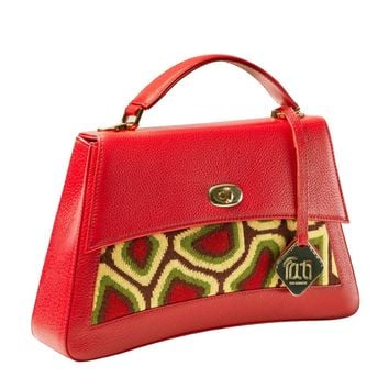 Red Leather Mini Handbag