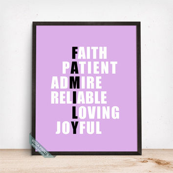 Best Family Word Home Decor Wall Art Products on Wanelo