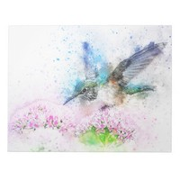 Bird Flower Abstract Notepad