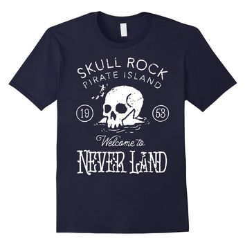 Disney Peter Pan Skull Rock Vintage Graphic T-Shirt