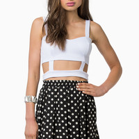 Caged Sweetheart Crop Top