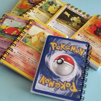 Pokemon Mini Notebook - Recycled Trading Cards