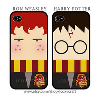 iphone 4 case, iphone 5 case, iphone 4s case -Harry Potter Ron Weasley Friendship best friend iphone case cover- 108