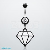 Urban Diamond Belly Button Ring