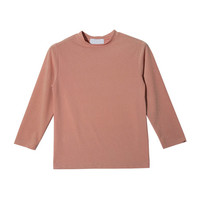 3/4 Sleeve High Neck T-Shirt (Pink) | STYLENANDA