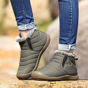 2018 Men Winter Keep Warm Plush Ankle Woman Running Shoes Snow boots Outdoor Waterproof adults Sneakers Unisex Large size 36-47