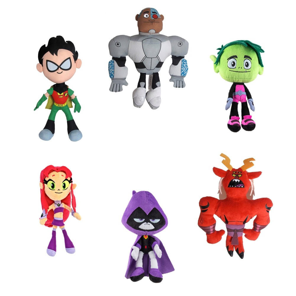Teen Titans Go Team Plush 6 Pack Bundle From Past Generation