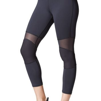 Michi Ballistic Crop Legging - Black