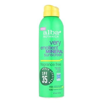 Alba Botanica Mineral Spray Sunscreen - Fragrance Free - Case Of 1 - 6 Oz.