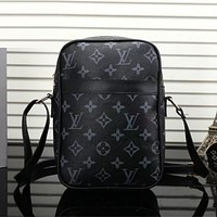 Louis Vuitton Men Leather Shoulder Bag Satchel Mini Crossbody