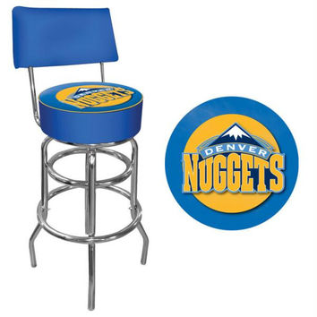 Denver Nuggets NBA Padded Swivel Bar Stool with Back