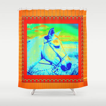 HORSE Shower Curtain by Kathead Tarot/David Rivera