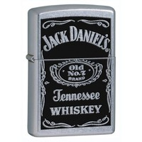 Zippo Jack Daniels Street Chrome Pocket Lighter