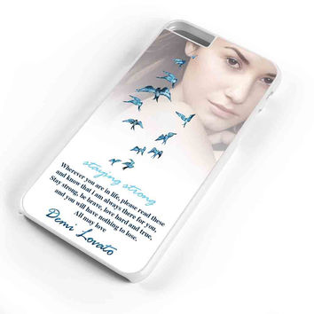 Demi Lovato Quotes Staying Strong Mjm iPhone 6s Plus Case iPhone 6s Case iPhone 6 Plus Case iPhone 6 Case
