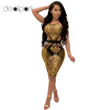 Summer Sexy Slip Dress Women Sequined Party Dresses female clubwear Sheer Mesh Cut Out Sleeveless Mini Bodycon Pencil Dress