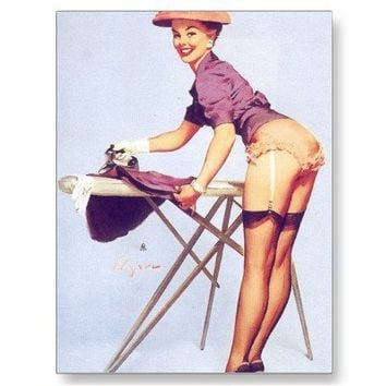 Vintage Retro Gil Elvgren Pin Up Girl Cards Postcard from Zazzle.com