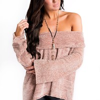 Here For Love Chenille Top (Taupe)
