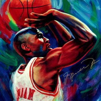 Michael Jordan Chicago Bulls Art NBA Basketball Silk Poster Art Bedroom Decoration 143