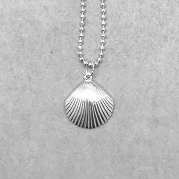 Seashell Necklace, Sterling Silver, Shell Necklace, Everyday Necklace, Handmade Jewelry, Gifts for Her