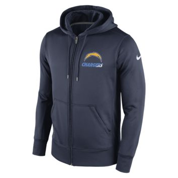 Nike Sideline KO Fleece Full-Zip (NFL Chargers) Men's Training Hoodie