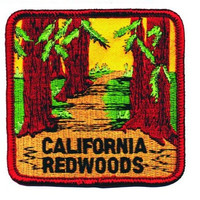 California Redwoods Patch - Trail in a Forest (Iron on)