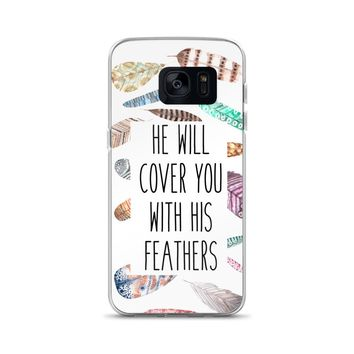 He will Cover You with His Feathers Samsung Case