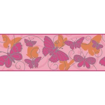 York Wallpaper BS5406B Room to Grow Butterfly Border
