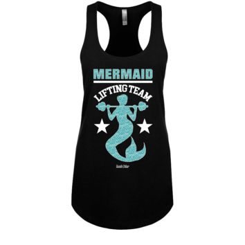 Mermaid Lifting Team Racerback Tank