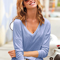 Long-sleeve V-neck Tee - Vintage Tees - Victoria's Secret