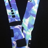 Custom Nike Elite Lebron X Prism Socks