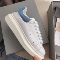 Alexander Mcqueen's world-class classic leather casual shoes watermelon blue  scrub