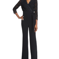 Marlowe Long-Sleeve Jumpsuit, Black, Size: