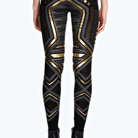 Grace Deco Metallic Print Leggings